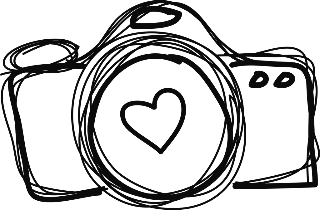 Camera with heart clipart picture freeuse library 28+ Collection of Camera Line Drawing | High quality, free cliparts ... picture freeuse library
