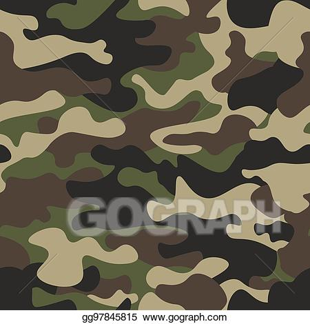 Camo clipart background svg transparent Vector Clipart - Camouflage seamless pattern background. classic ... svg transparent