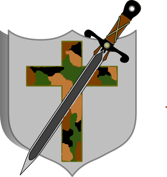 Cross arms clipart image freeuse download Sword And Shield - Camo Colored Clip Art at Clker.com - vector clip ... image freeuse download