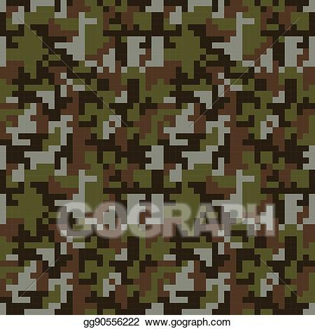 Camo images clipart graphic freeuse library Vector Art - Pixel camo seamless pattern. brown forest camouflage ... graphic freeuse library