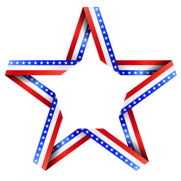Red white and blue star border clipart picture transparent American Star Decor PNG Clipart | 4th of JULY the red, white, and ... picture transparent
