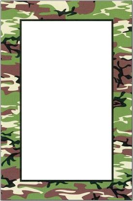Camouflage clipart borders stock Free camo border paper stock