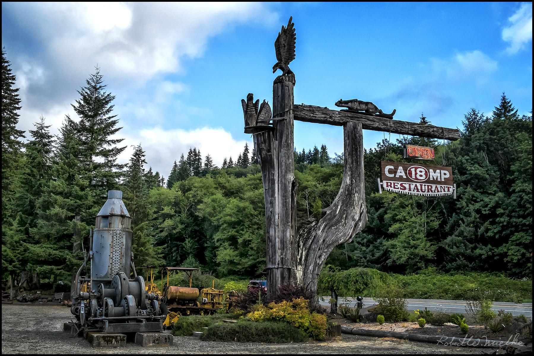 Camp 18 clip stock Camp 18 Entrance Sign | clip stock