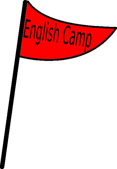 Camp flag clipart banner Red Flag English Camp Clip Art at Clker.com - vector clip art online ... banner