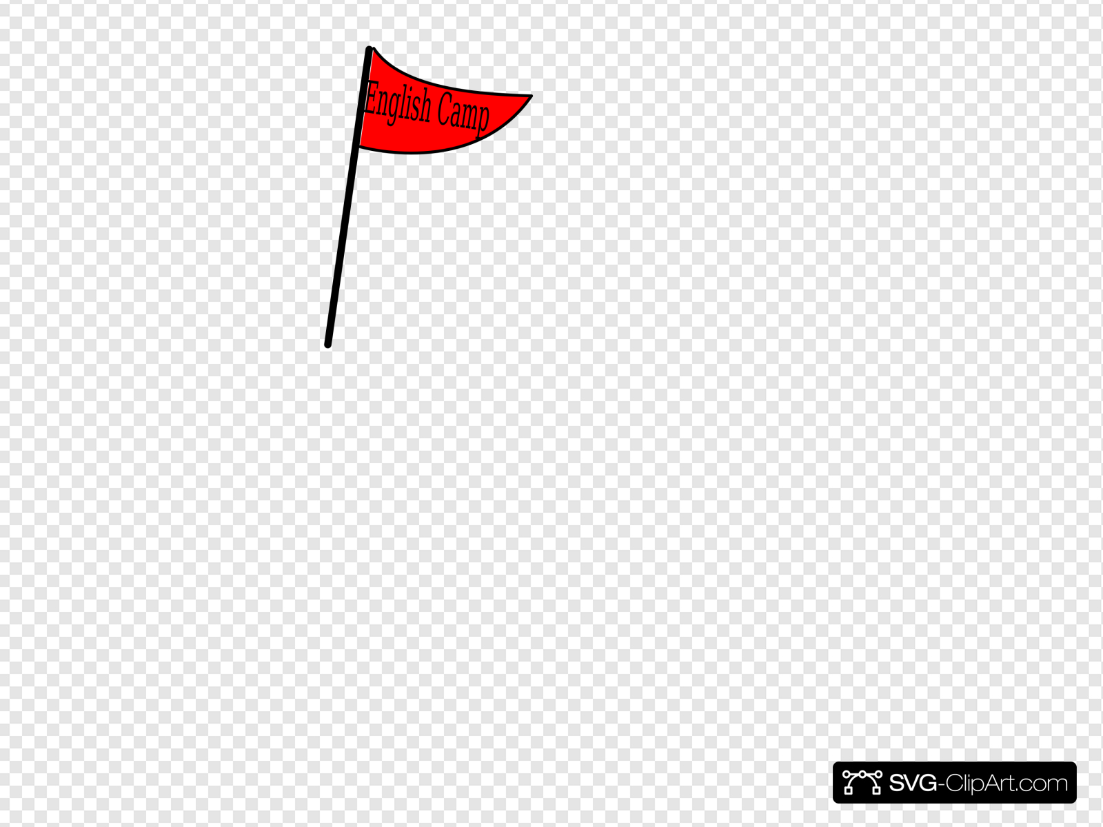 Camp flag clipart graphic library download Red Flag English Camp Clip art, Icon and SVG - SVG Clipart graphic library download