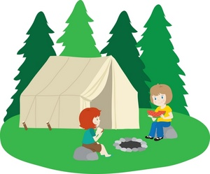 Clipart campground vector black and white stock Campground Clipart | Free download best Campground Clipart on ... vector black and white stock