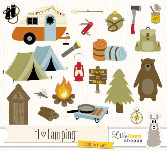Campamento clipart svg black and white stock Camping Clipart, Vector Backpacking Clip Art, Camp Clipart, Hiking ... svg black and white stock