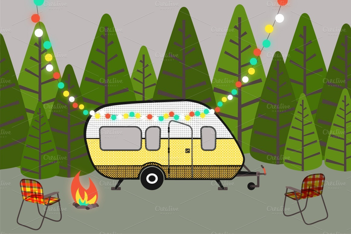 Clipart camping trailer jpg freeuse Camper clipart camping, Camper camping Transparent FREE for download ... jpg freeuse