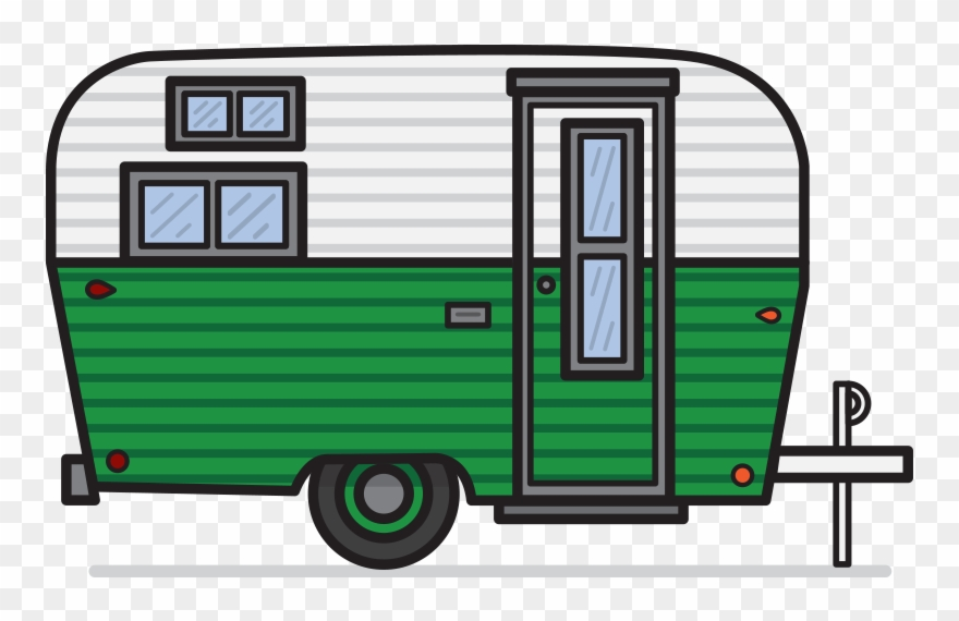 Camper border clipart clipart library download Vintage Camper Clipart - Caravan Clipart In Png Transparent Png ... clipart library download