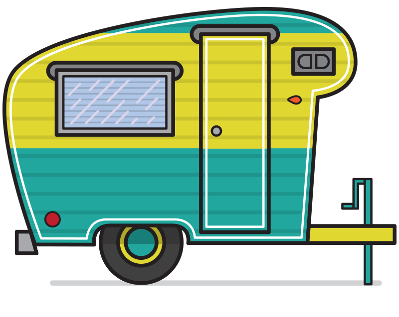 Clipart camping trailer picture black and white stock Free Retro Camper Cliparts, Download Free Clip Art, Free Clip Art on ... picture black and white stock