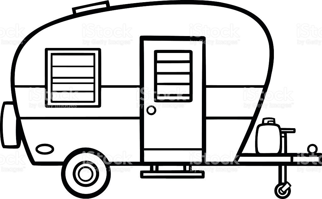 Camper clipart images graphic transparent Image result for camper line art | Sewing, Needlework and Embroidery ... graphic transparent