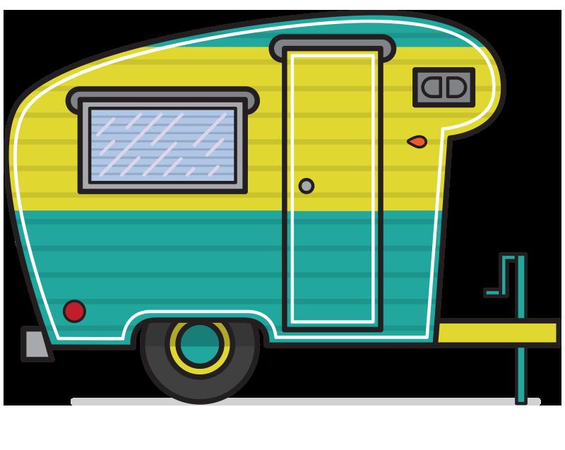 Car hauler trailer clipart black and white Camper Clip Art Related Keywords & Suggestions - Camper Clip Art ... black and white