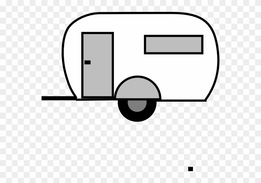 Camper outline clipart png black and white Vintage Camper Clipart - Outline Of Camper Trailer - Png Download ... png black and white