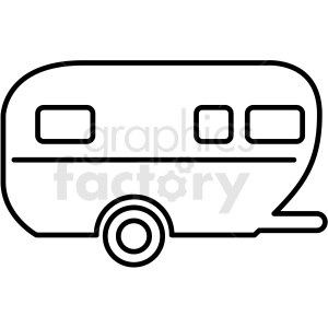 Camper outline clipart picture library library camper trailer icon clipart outline . Royalty-free clipart # 409695 picture library library