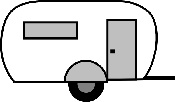 Trailer black clipart svg library library Camper Clipart | Free download best Camper Clipart on ClipArtMag.com svg library library