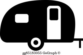 Clipart camping trailer graphic black and white Camper Clip Art - Royalty Free - GoGraph graphic black and white