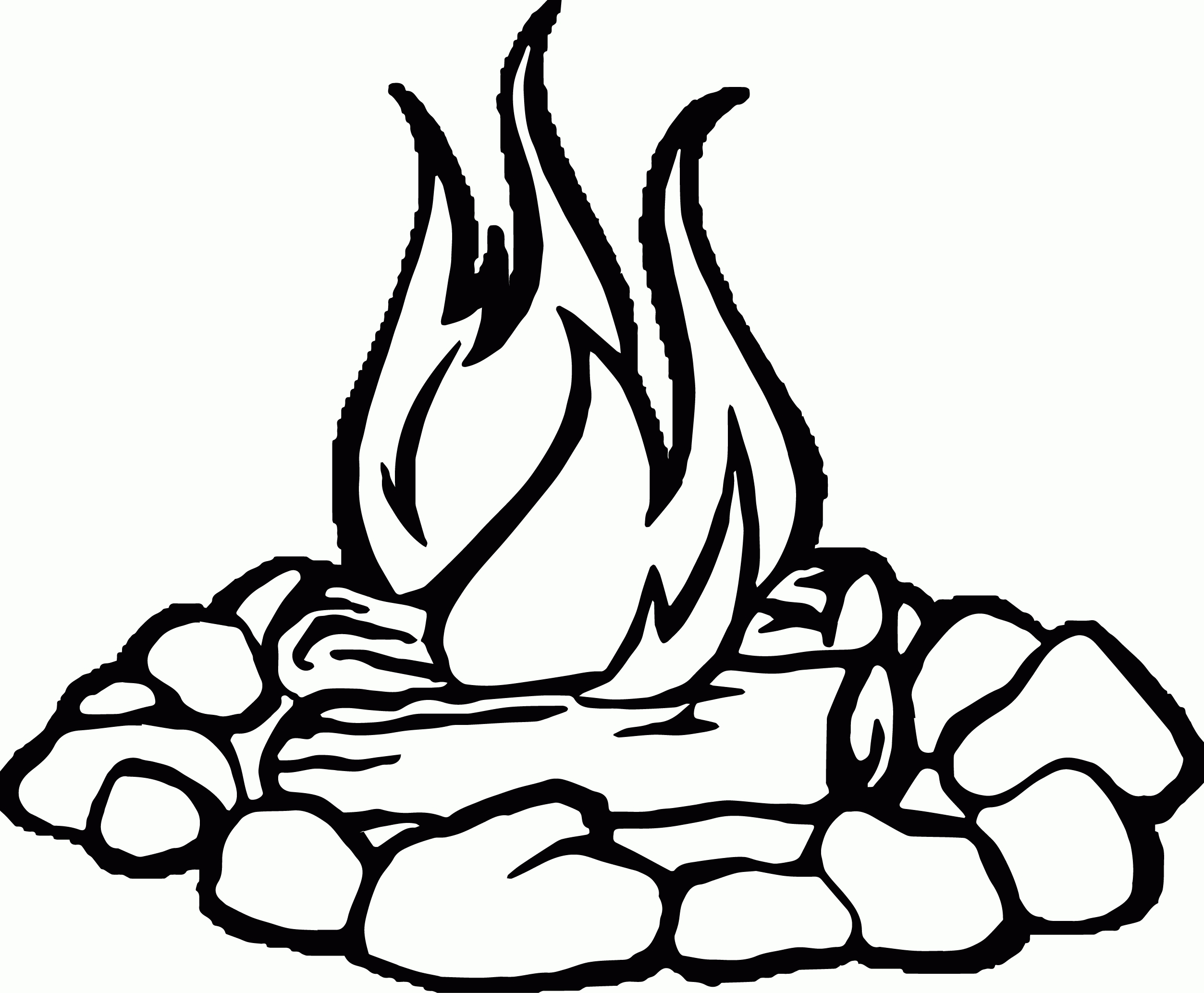 Campfire clipart black and white clip art download Campfire clipart black and white Beautiful Campfire black and white ... clip art download