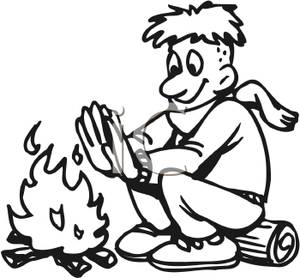 Front clipart for kids black and white vector transparent download Campfire Clipart Black And White | Clipart Panda - Free Clipart Images vector transparent download