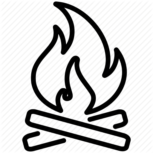 Campfire black and white clipart no background banner freeuse library Black Line Background clipart - Drawing, Campfire, Illustration ... banner freeuse library