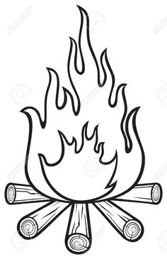 Campfire clipart black and white vector library download Black And White Campfire Clipart | Free download best Black And ... vector library download