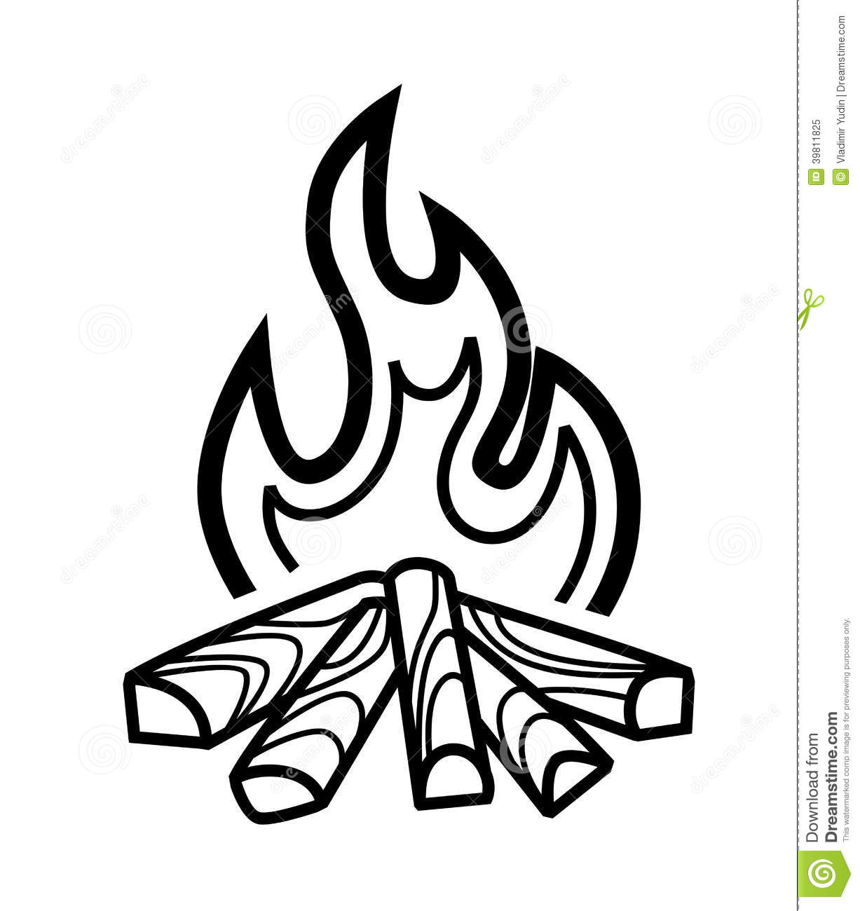 Campfire clipart black and white image free Campfire clipart black and white 6 » Clipart Station image free