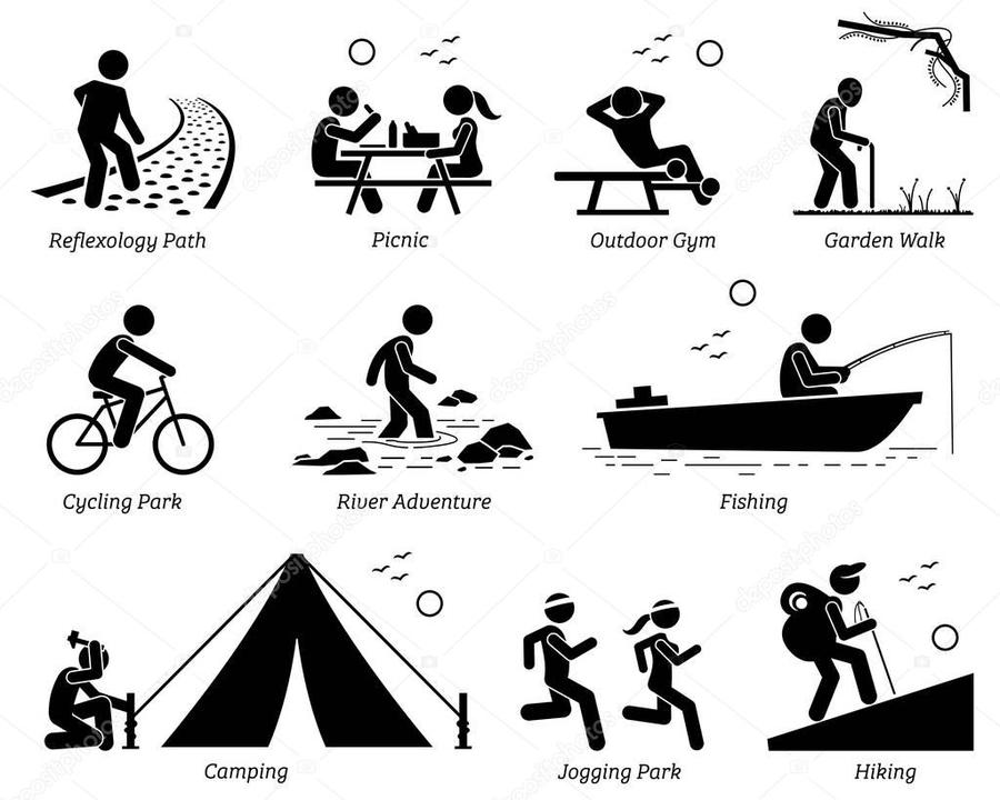 Camping and biking clipart black and white jpg free library Download recreation pictogram clipart Outdoor Recreation Clip art ... jpg free library