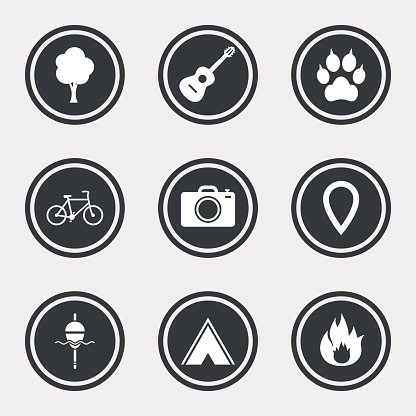 Camping and biking clipart black and white graphic black and white download Tourism, Camping Fishing, Fire and premium clipart - ClipartLogo.com graphic black and white download