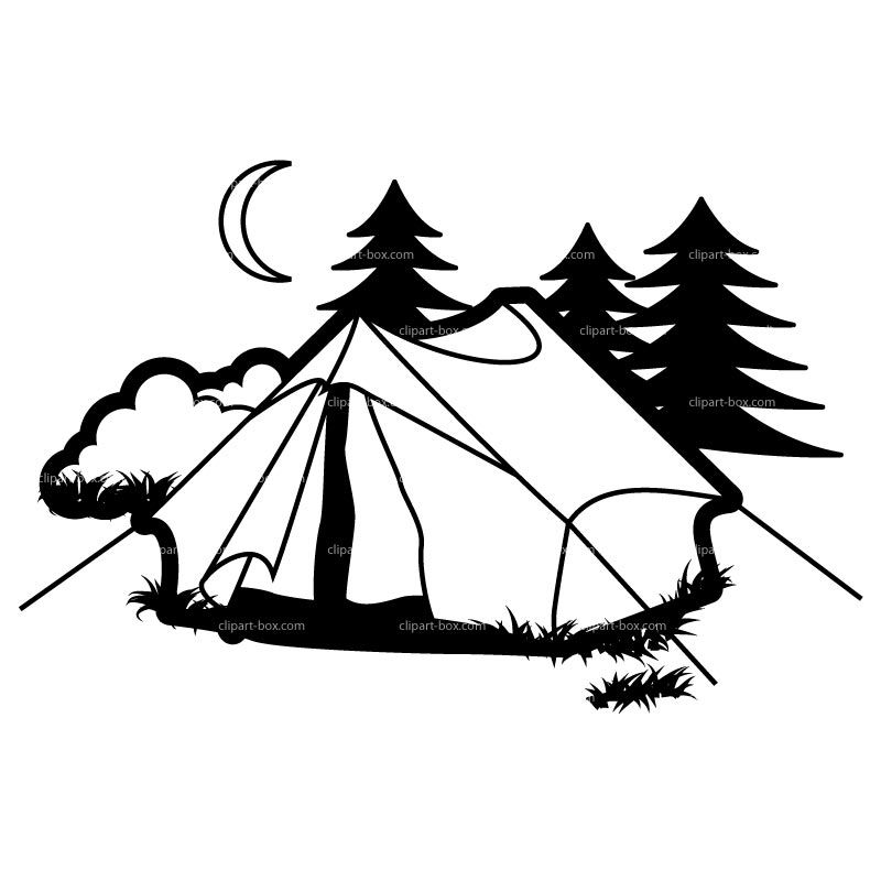 Tent by lake clipart free vector black and white download Camping clipart free images 4 | girl scout clipart | Camping clipart ... vector black and white download