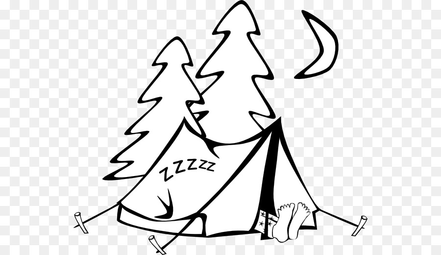 Camping and reading tent clipart black and white picture black and white download Black Line Background png download - 600*520 - Free Transparent Tent ... picture black and white download