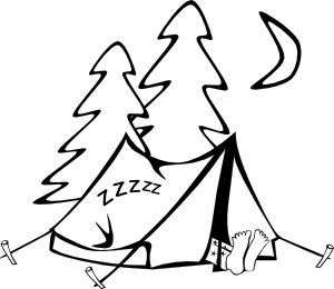 Camping black and white clipart picture library stock Black And White Camping Clipart | Free download best Black And White ... picture library stock