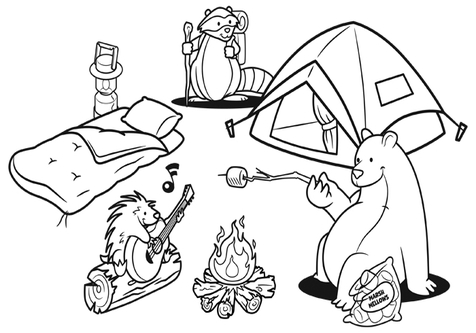 Camping black and white clipart image library download Camping black and white clipart 2 » Clipart Station image library download