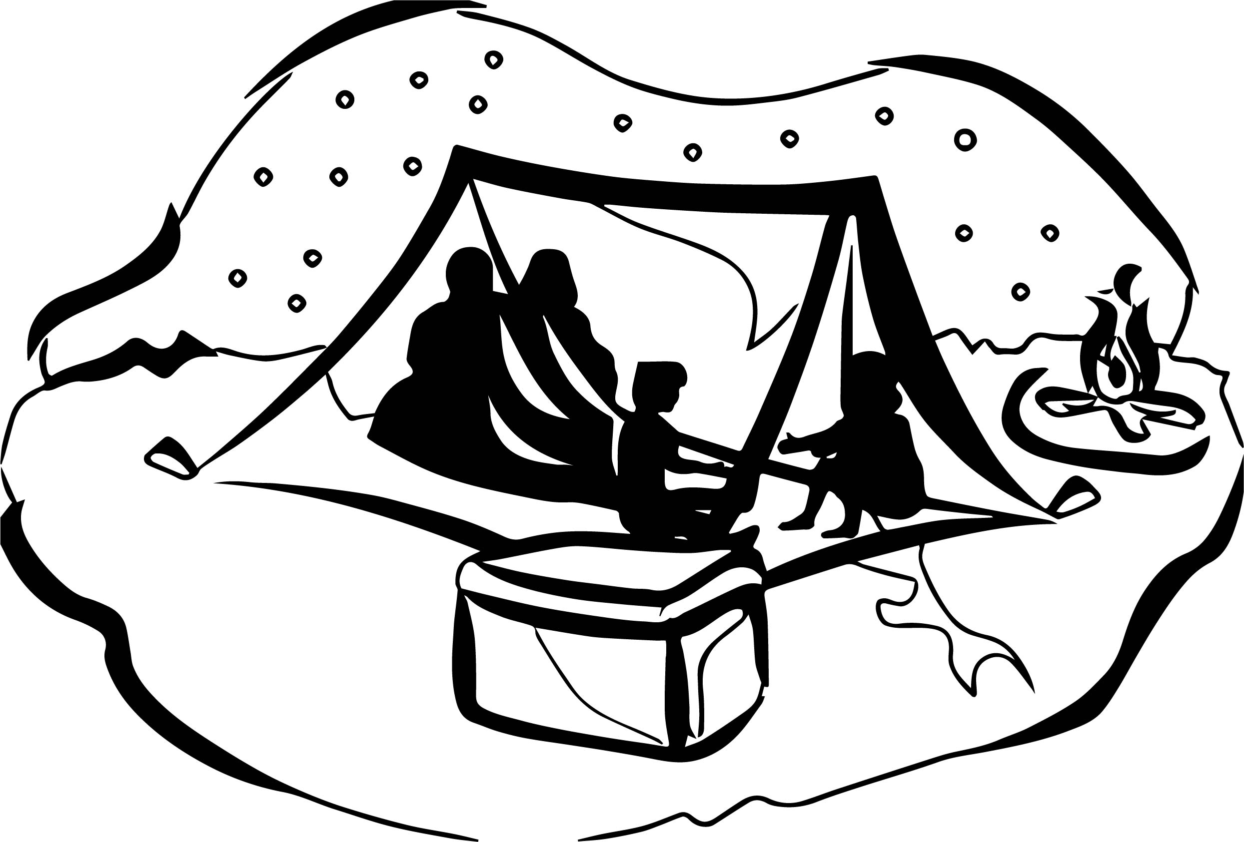 Camping black and white clipart svg black and white download Camping Clipart Black And White | Free download best Camping Clipart ... svg black and white download