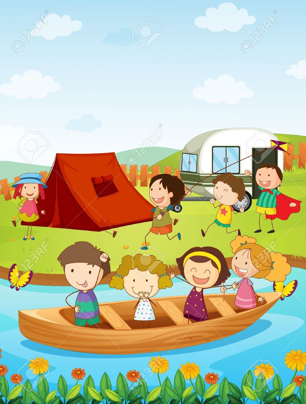 Camping books clipart jpg royalty free Pin by ahmad mustaqim on kids illution | Camping books, Tent camping ... jpg royalty free