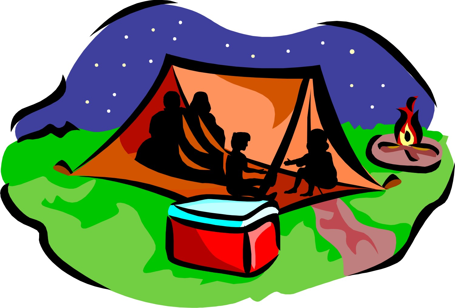 Camping books clipart image free download Kids camping clipart dromfib top 2 - Clipartix image free download