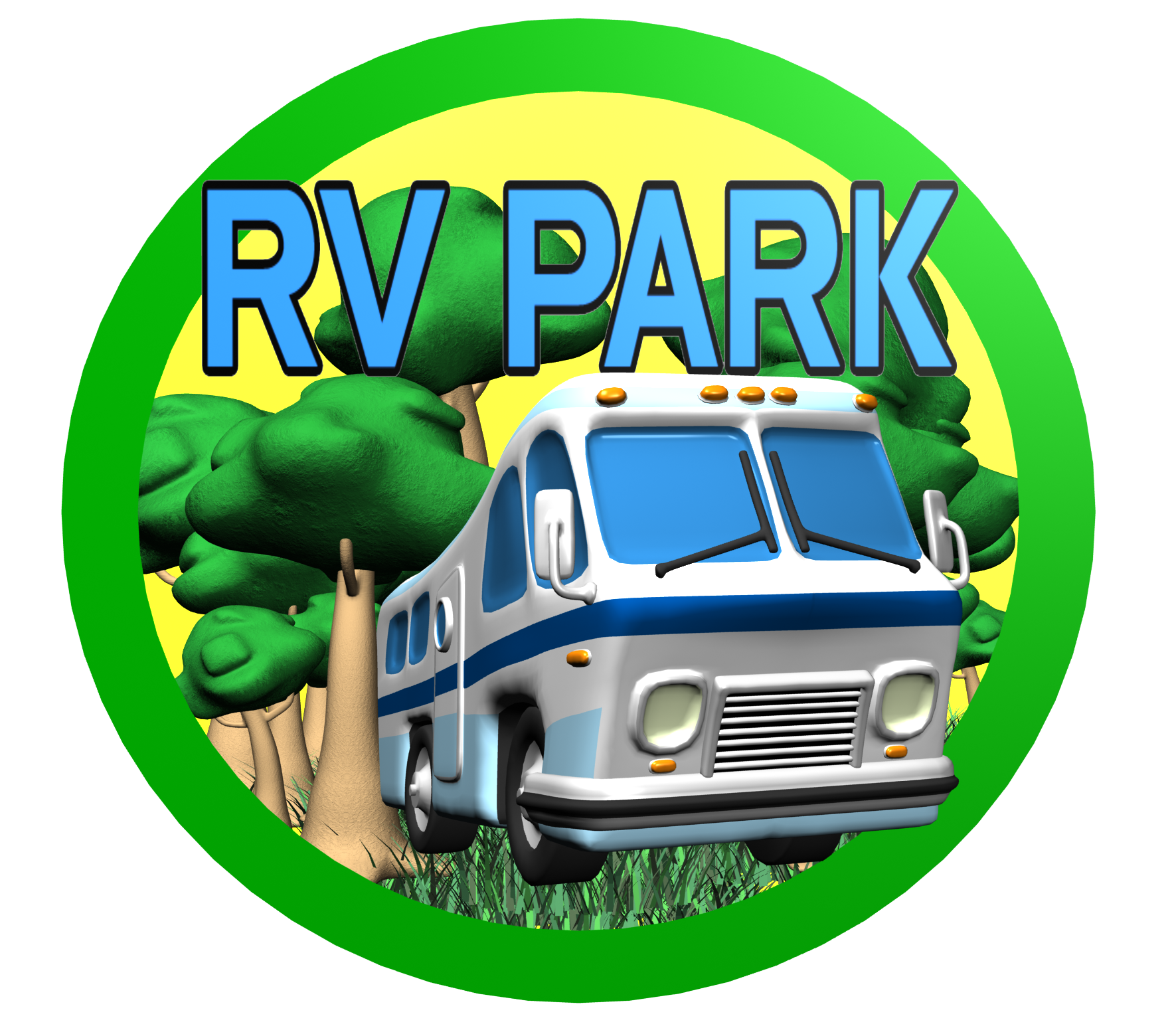 Camping car clipart vector library download Park Rv Camping Clipart vector library download