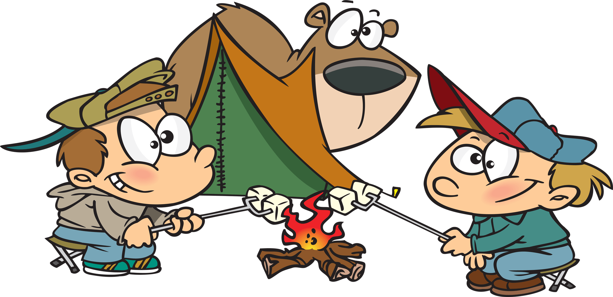 Camping clipart funny clipart black and white Funny Camping Cliparts - Cliparts Zone clipart black and white