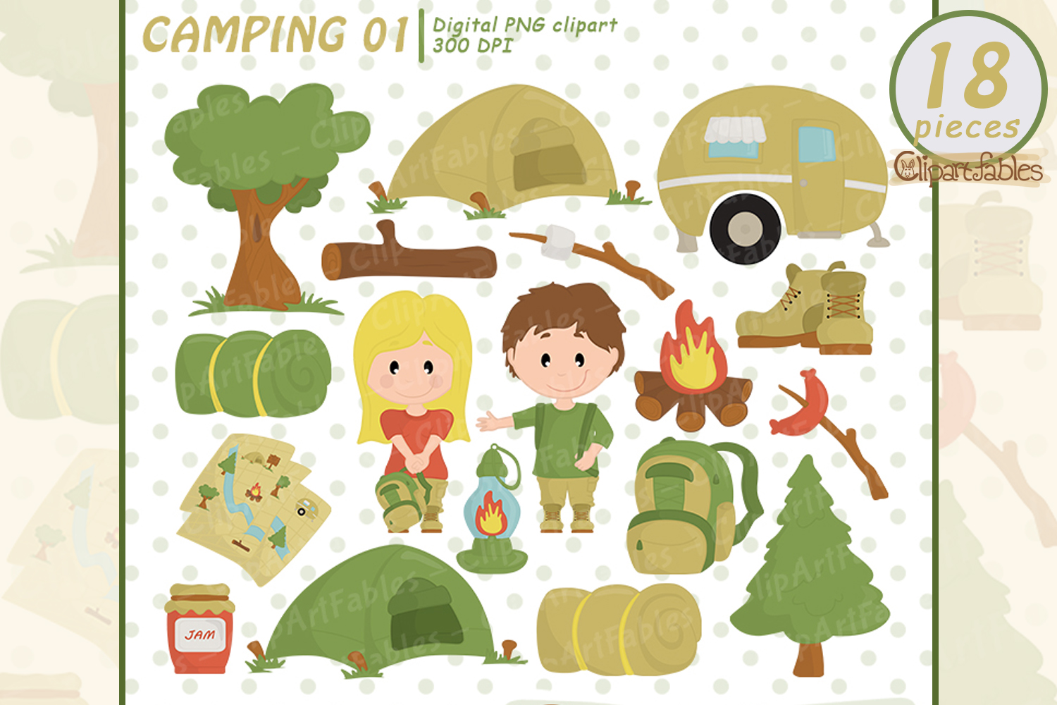 Camping clipart images image freeuse CAMPING clipart, Camp fire art, outdoor - instant download image freeuse