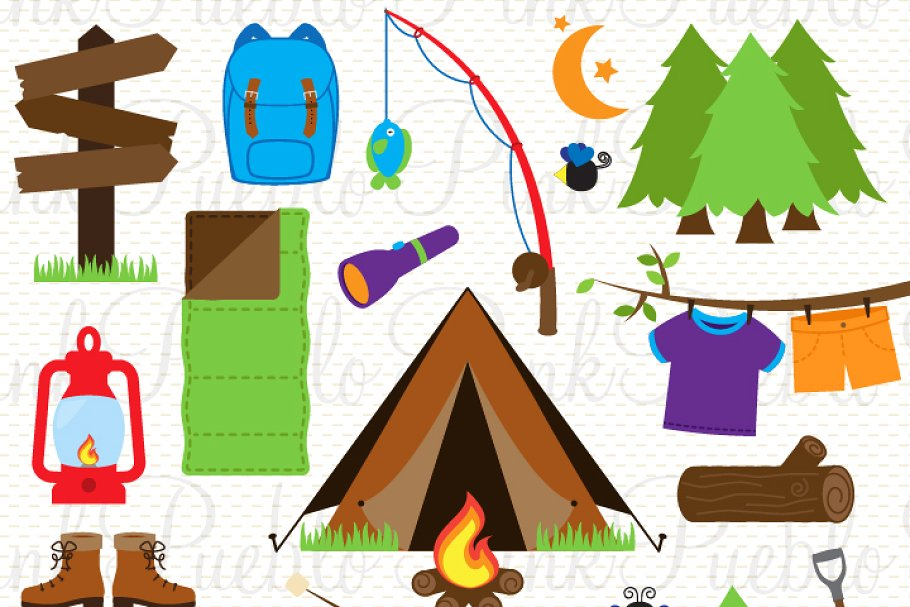 Camping clipart vectors image free download Camping Clipart and Vectors image free download