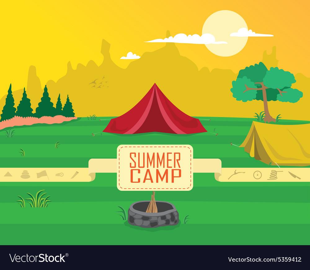 Camping clipart vectors clip transparent download Summer camp clipart clip transparent download