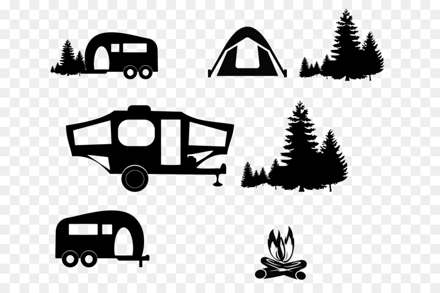 Camping clipart vectors png black and white Christmas Black And White png download - 1500*1000 - Free ... png black and white