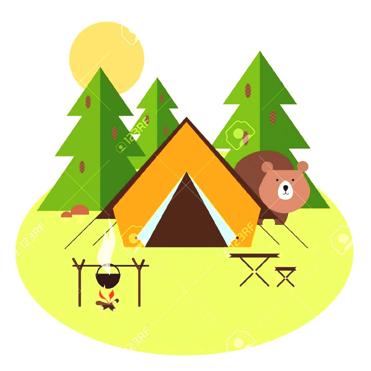 Camping clipart vectors image library stock Camping Clipart Tent Stock Vector Illustration And Royalty - Free ... image library stock