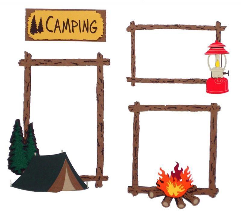 Camping frame clipart jpg transparent stock camping scrapbook paper   Paper Wizard - Die Cuts - Camping Frames ... jpg transparent stock