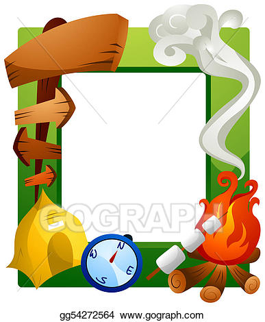 Camping frame clipart black and white Stock Illustrations - Camping frame. Stock Clipart gg54272564 - GoGraph black and white