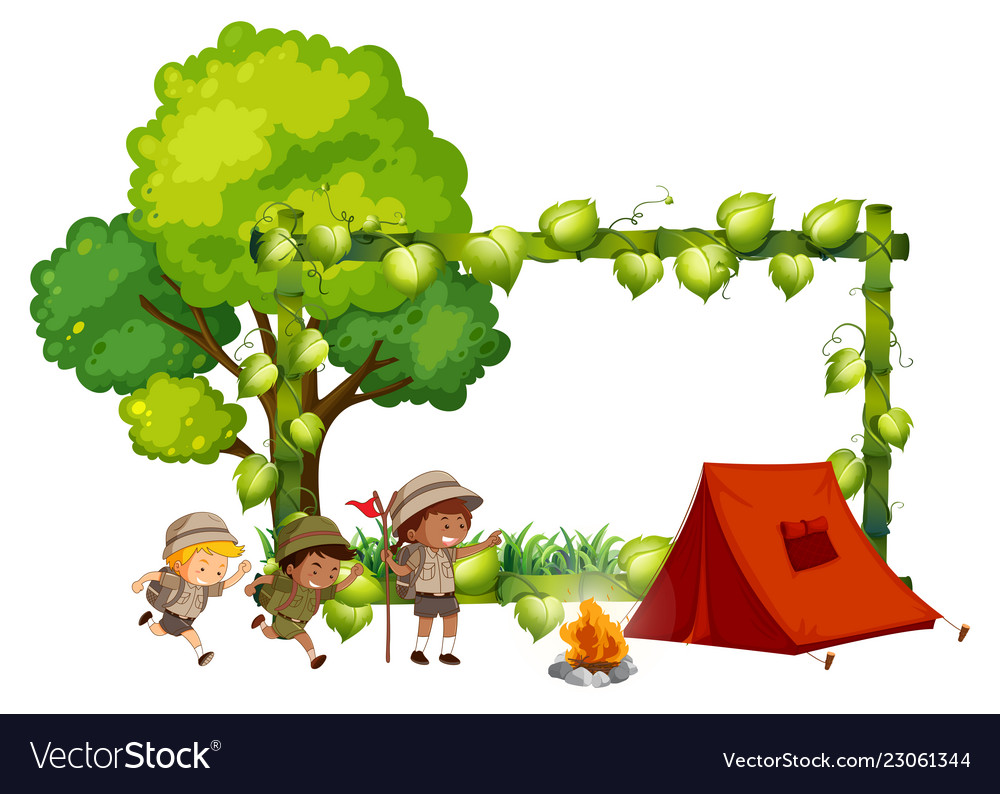 Camping frame clipart svg free stock Camping kids frame template svg free stock