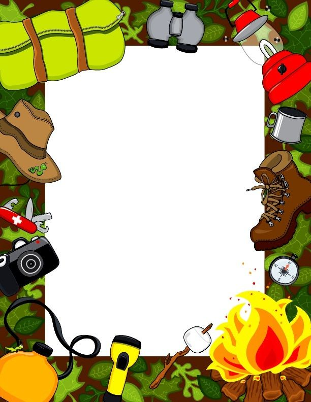 Camping frame clipart image library library De colònies | Borders, Frames & Backgrounds | Borders, frames ... image library library