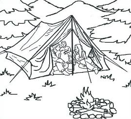 Camping in the woods clipart black and white black and white download Camping Tent Drawing at PaintingValley.com | Explore collection of ... black and white download