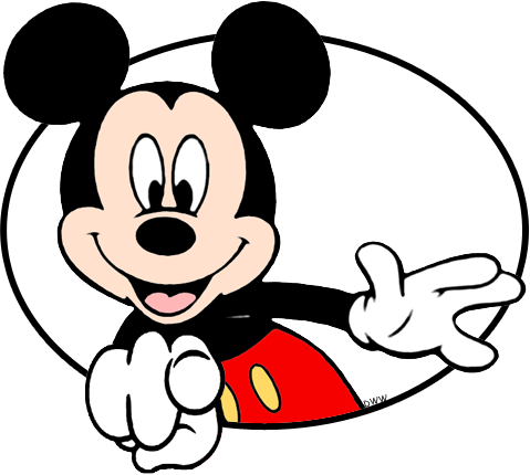 Mickey mouse with sunglasses clipart