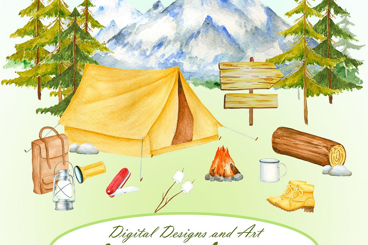 Camping pictures clipart png black and white Camping clipart png black and white