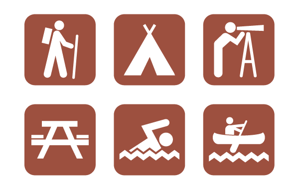 Camping signs clipart clipart royalty free library Free Vector Camping Icons | Free Vectors | Camping signs, Camping ... clipart royalty free library