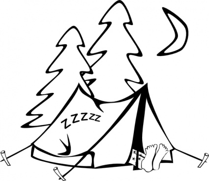 Stick figure camping clipart freeuse stock Camping clipart black and white free clipart images clipartbold ... freeuse stock